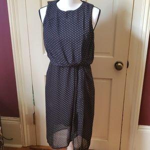 Sunny Girl black & white polka dot dress M